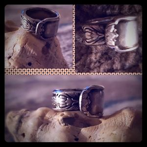 Spoon ring from silver plate size 5.5